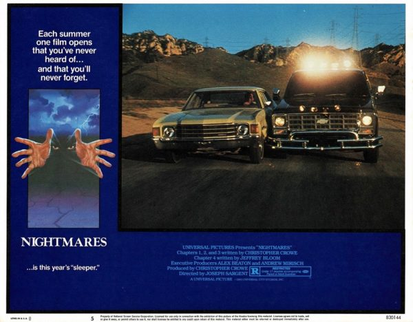 Nightmares US Lobby Cards 1983