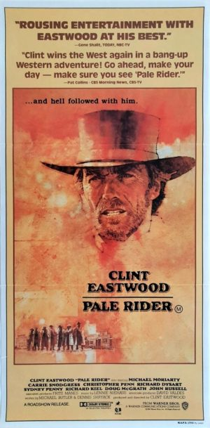 Pale Rider Australian Daybill Poster with Clint Eastwood