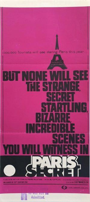 Paris Secret Australian Daybill Poster