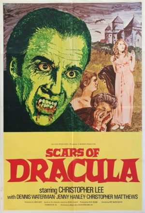 Scars of Dracula UK One Sheet Poster with Christopher Lee (3)