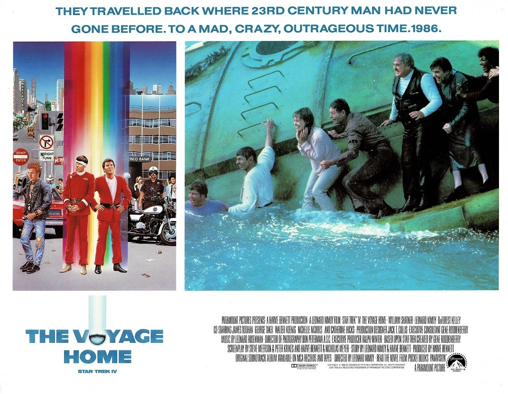 Star Trek IV The Voyage Home US Lobby Card