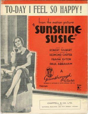 Sunshine Susie sheet music