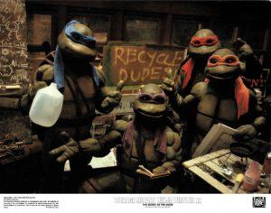 Teenage Mutant Ninja Turtles 2 US Lobby Card Set (5)