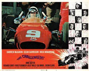 The Challengers US Lobby Card motor car racing theme
