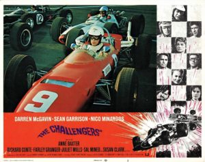 The Challengers US Lobby Card motor car racing theme