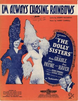 The Dolly Sisters Sheet Music with Betty Grable and June Haver