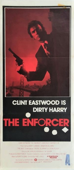 The Enforcer Australian Daybill Poster with Clint Eastwood (1)