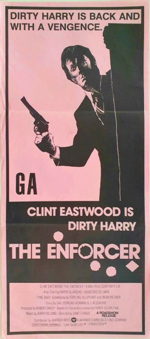 The Enforcer New Zealand Daybill Poster with Clint Eastwood (3)