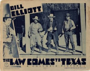 The Law Comes to Texas US 1939 Lobby Card with Bill Elliot