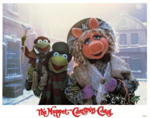 The Muppet Christmas Carol US Lobby Card 1992 Miss Piggy and Kermit