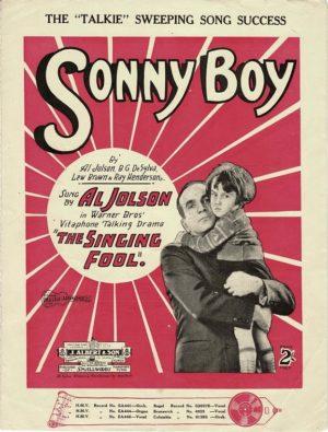 The Singing Fool sonny boy al jolson sheet music