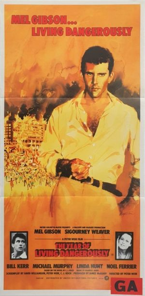 The Year Of Living Dangerously Australian Daybill Poster with Mel Gibson