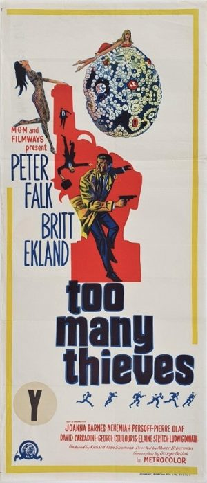 Too Many Thieves Australian Daybill Poster