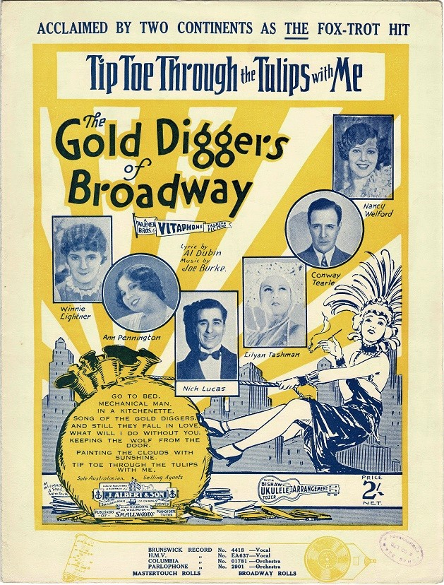 gold diggers of broadway sheet music