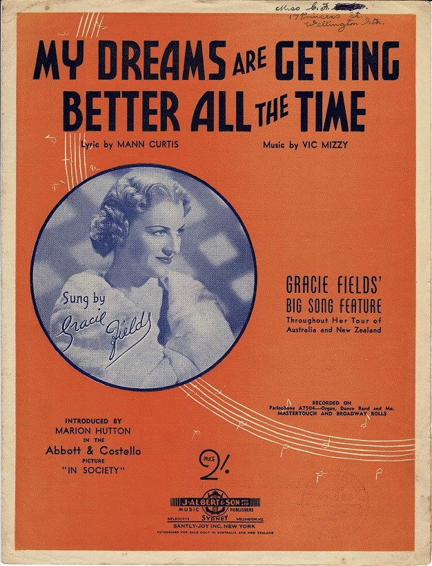 in society gracie fields with abbott and costello sheet music