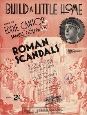 roman scandals sheet music with eddie cantor