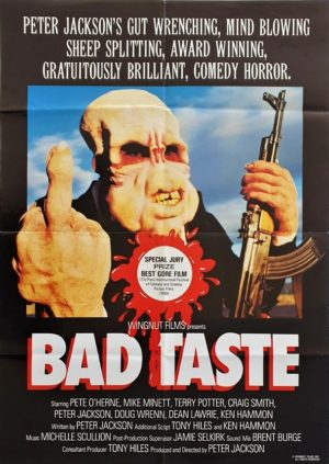 Bad Taste NZ One Sheet post film festivals 1988