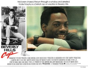 Beverly Hills Cop UK Lobby Card with Eddie Murphy 1984