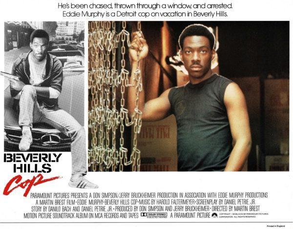 Beverly Hills Cop UK Lobby Card with Eddie Murphy 1984