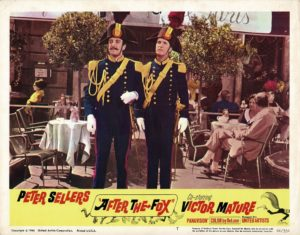 After the fox 1966 US Lobby Card with Peter Sellers and Victor Mature
