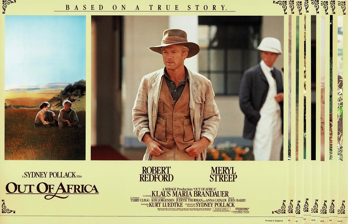 Out Of Africa UK Lobby Card Set