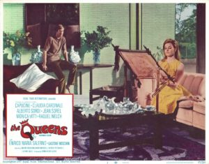 The Queens 1967 US Lobby Card with Raquel Welsh and Claudia Cardinale