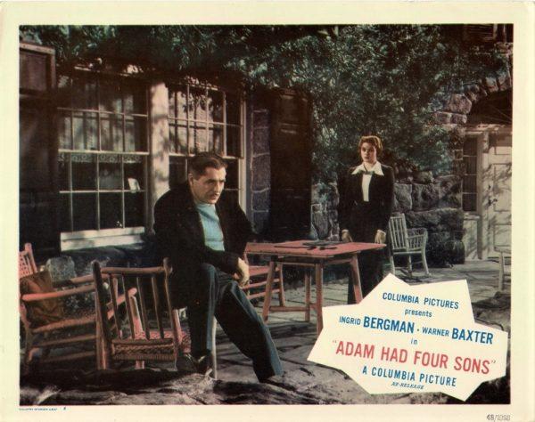Adam Had Four Sons 1941 US Lobby Card with Ingrid Bergman