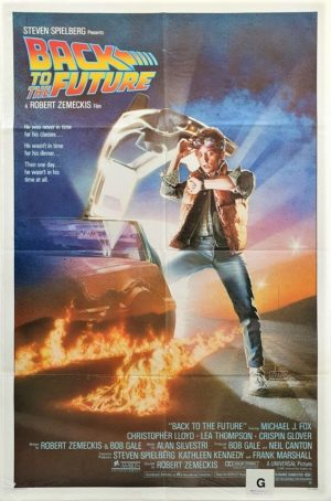 Back to the future US One Sheet 1985 NZ Used