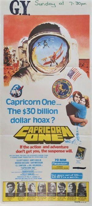 Capricorn One Australian daybill poster NASA