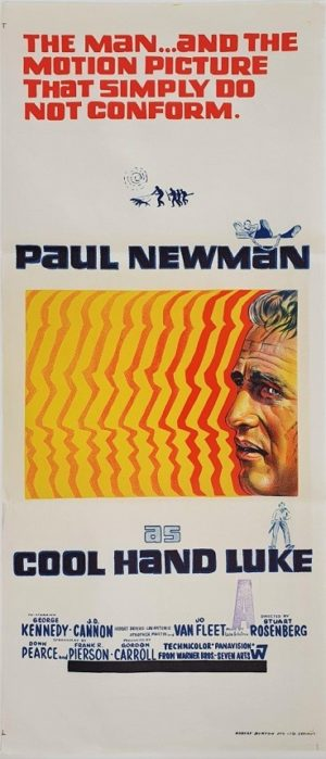 Cool Hand Luke Australian daybill poster with Paul Newman (67)
