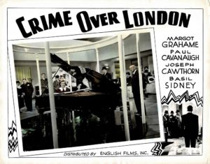 Crime Over London 1940s photolobby lobby card
