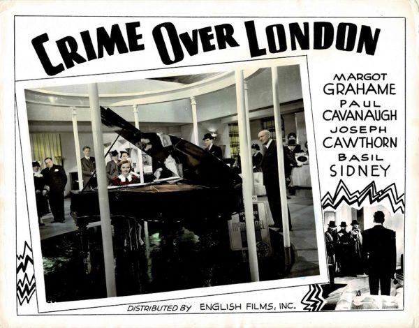 Crime Over London 1940s photolobby lobby card
