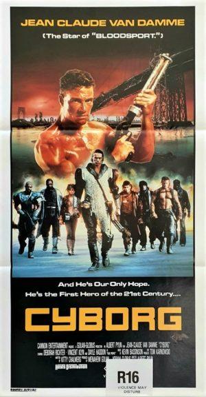 Cyborg Australian daybill poster Jean Claude Van Damme