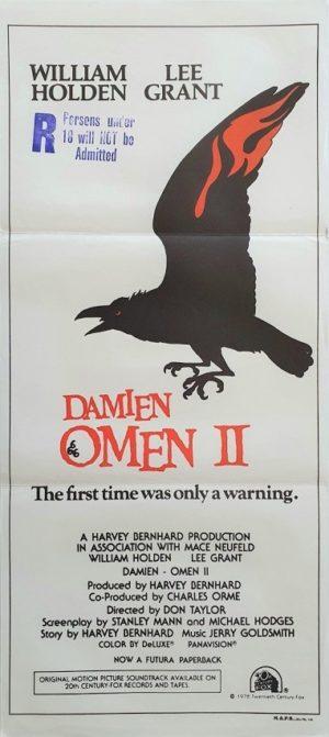 Damien Omen 2 Australian daybill poster