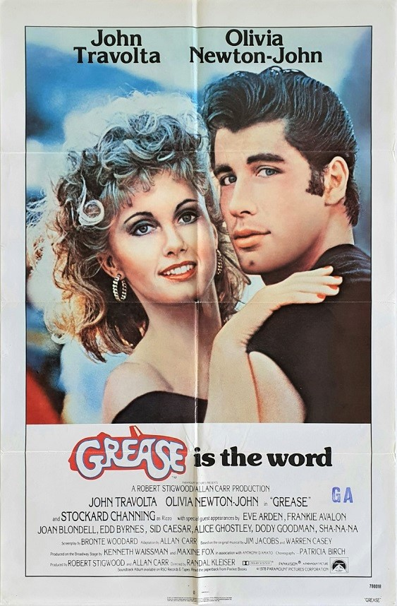 Grease US One Sheet Poster NZ Used