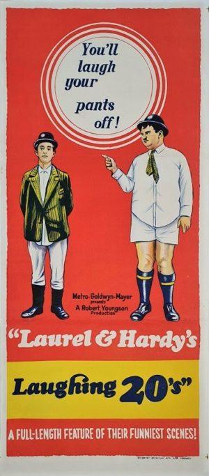 Laurel & Hardy's Laughing 20's Australian daybill poster
