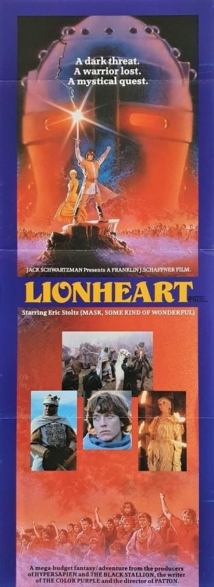 Lionheart Australian daybill poster