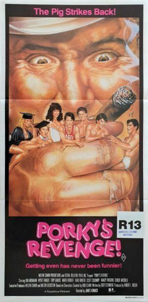 Porky's Revenge Australian daybill poster 1985