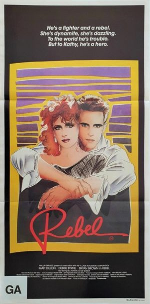 Rebel Australian daybill poster with Matt Dillon