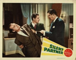 Silent Partner 1944 US Lobby Card