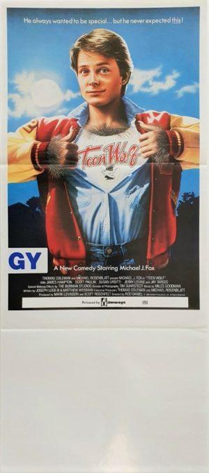 Teen Wolf Australian daybill poster with Michael J Fox (66)
