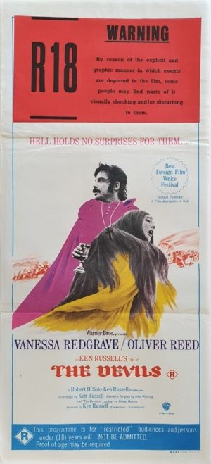The Devils Australian daybill poster with Oliver Reed