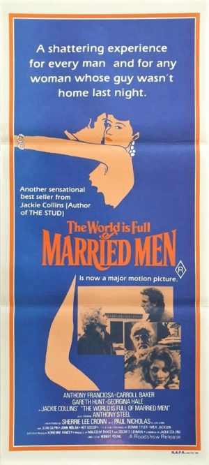 The World is full of married men Australian daybill poster by Jackie Collins