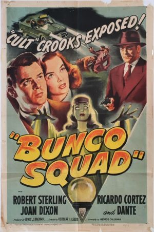 Bunco Squad US One Sheet movie poster 1951