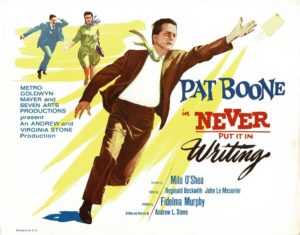 Never Put It in Writing lobby card 1964