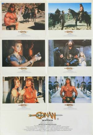 Conan The Destroyer Australian Lobby Card One Sheet poster photosheet with Arnold Schwarzenegger (15)