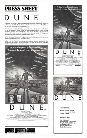 Dune Australian Press Sheet (9)