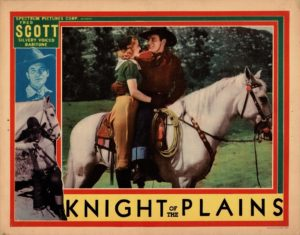 Knight Of The Plains US Lobby Card 1938 with Fred Scott Produced by Stan Laurel