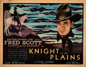 Knight Of The Plains US Title Card 1938 with Fred Scott and Produced by Stan Laurel (9)