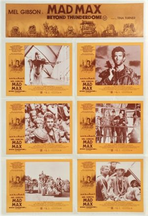 Mad Max Beyond Thunderdome Australian Lobby Card One Sheet movie poster with Mel Gibson and Tina Turner 1985 (10)
